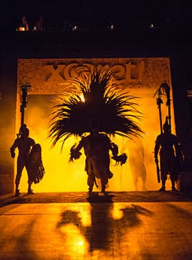 Xcaret at Night
